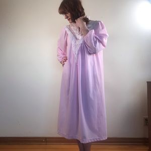 Vintage Famous Bodies Pink Midi Nightgown
